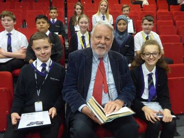 Terry Waite with pupils from New Line Learning Academy (12689136)