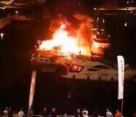The boat went up in flames in the early hours of the morning