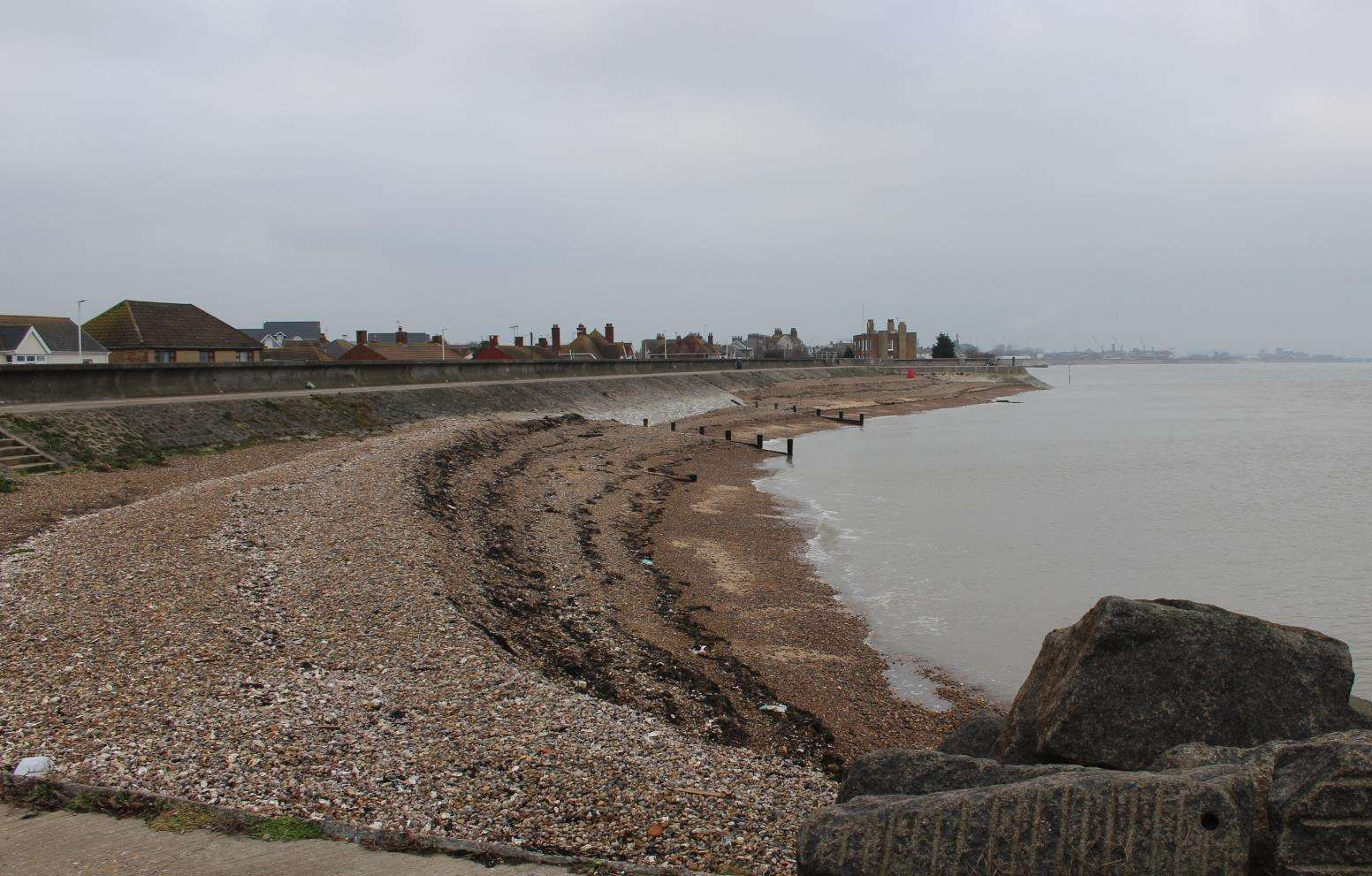 The beach at Sheerness where Anne McManus wants her ashes scattered