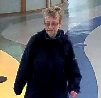 Sheila Ratcliffe was seen on CCTV leaving the William Harvey Hospital in Ashford
