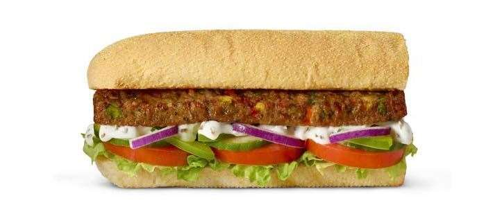 Vegan patty sub, Subway