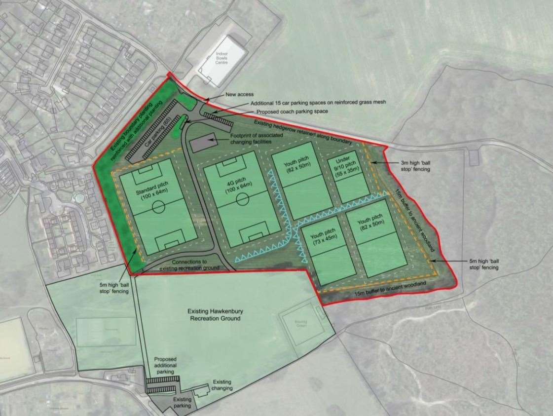 Plans to expand the recreation ground in Hawkenbury have been renewed