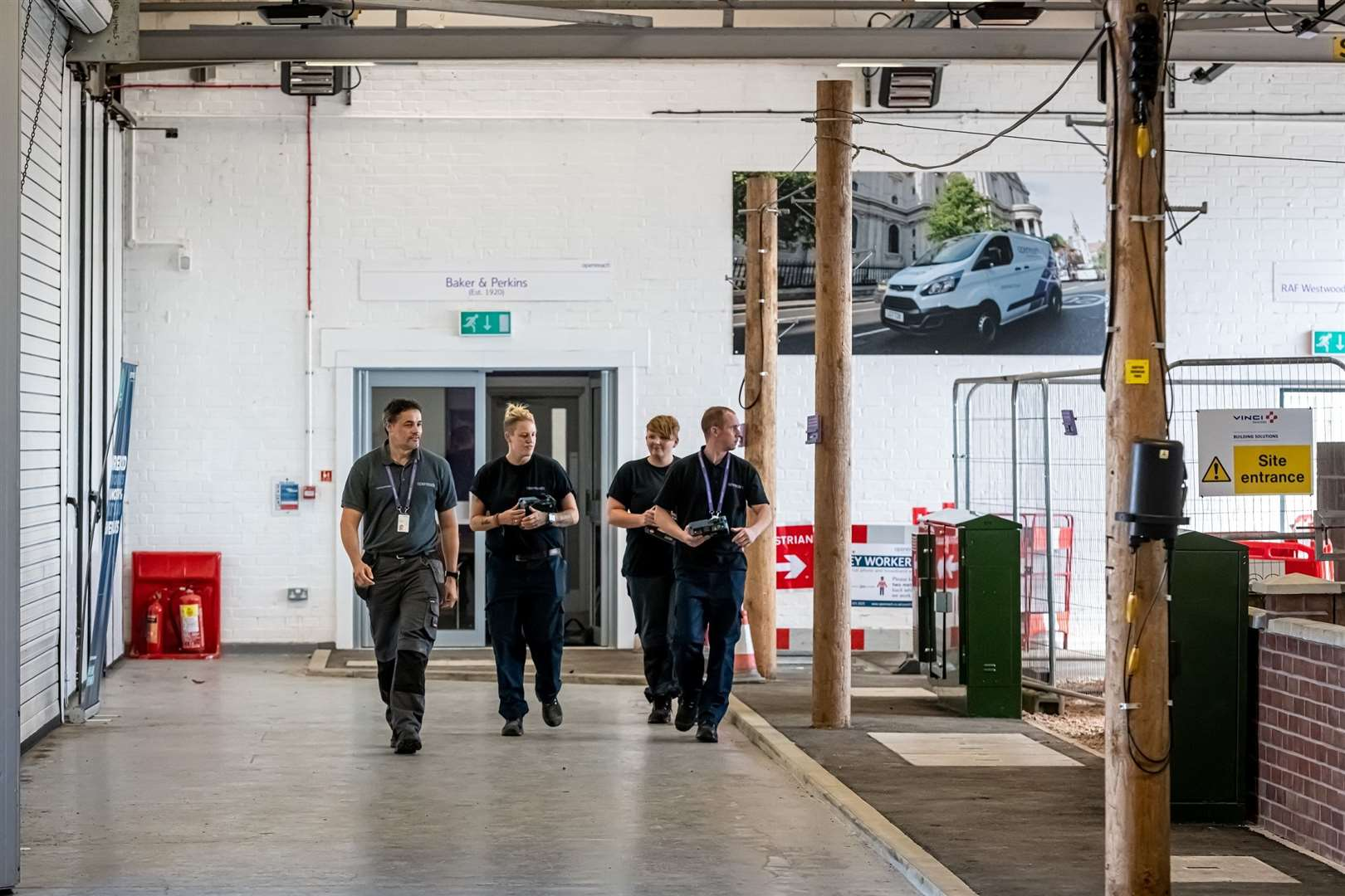 Openreach trainees at its Open Street Training Centre. Picture: Openreach