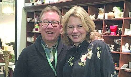Antiques experts Catherine Southon and Mark Stacey will be on hand to give free valuations at this year's South East Property Expo.