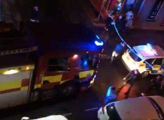 Emergency services at Blake's nightclub in Queen Street, Gravesend