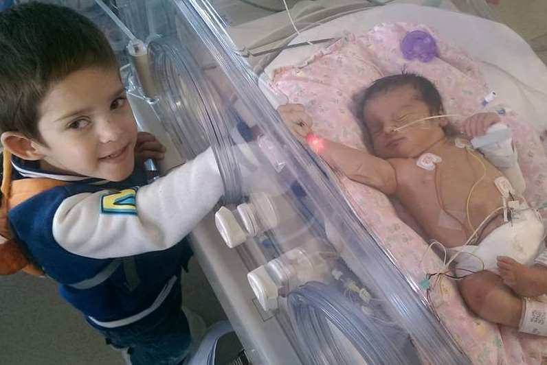 Logan and his sister Ava-Lily