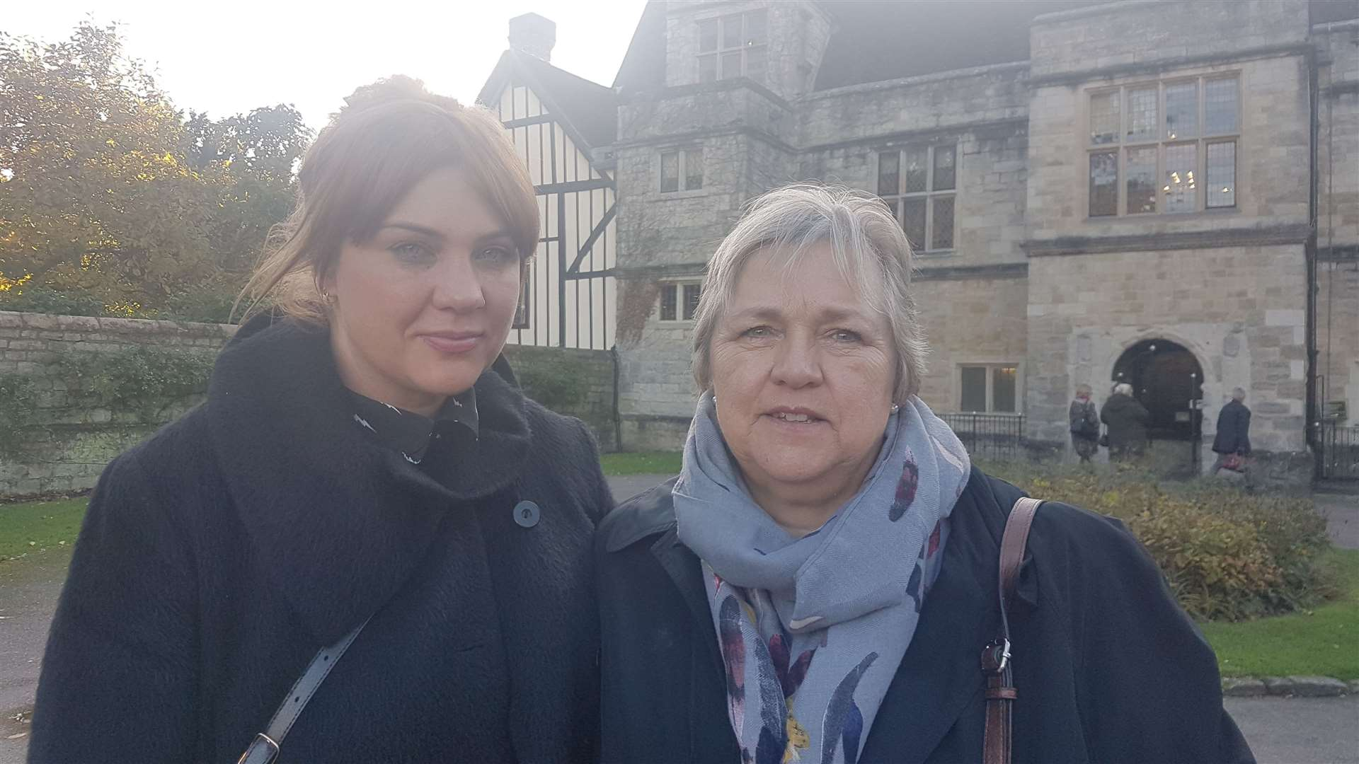 Rosie Moss and her mother Pam Meade following the conclusion of the inquest in Maidstone