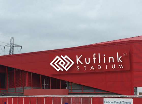 An artist's impression of the new stadium. Picture: Ebbsfleet United