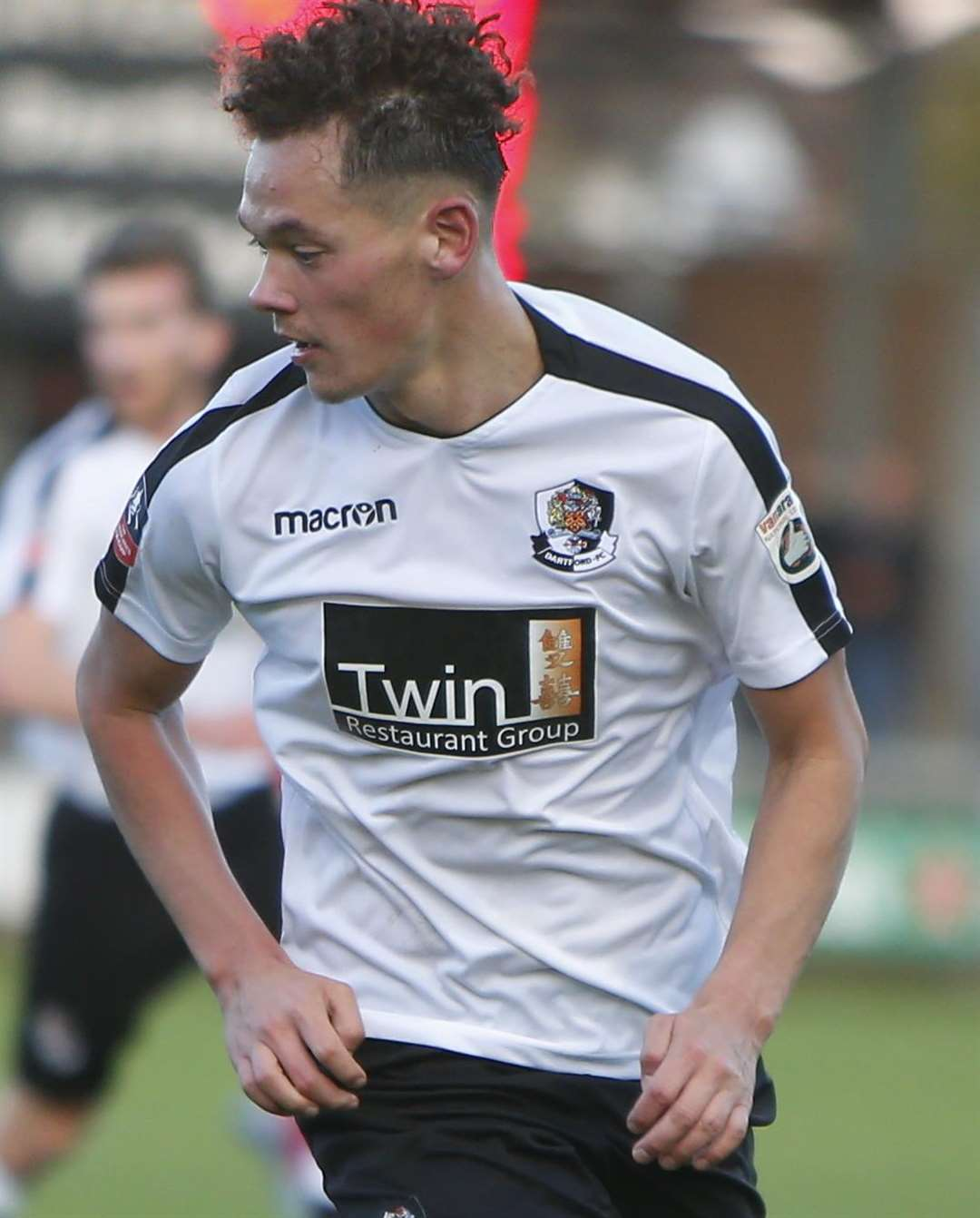 Alfie Pavey pictured playing for Dartford Picture: Andy Jones