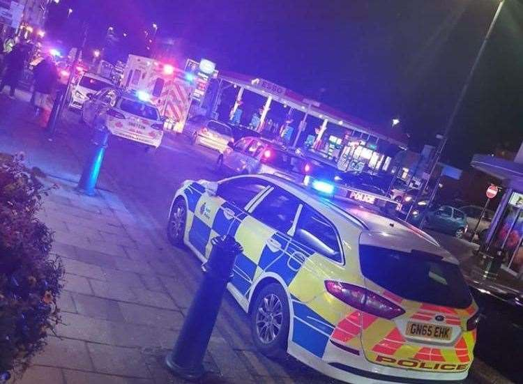 Police and ambulances were called to Milton Road, Gravesend. Picture: Jonjo O'Connell.