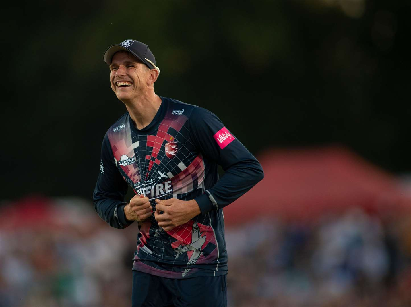 Fred Klaassen took two wickets with the final two balls as Kent beat Sussex by a single run at Hove Picture: Ady Kerry