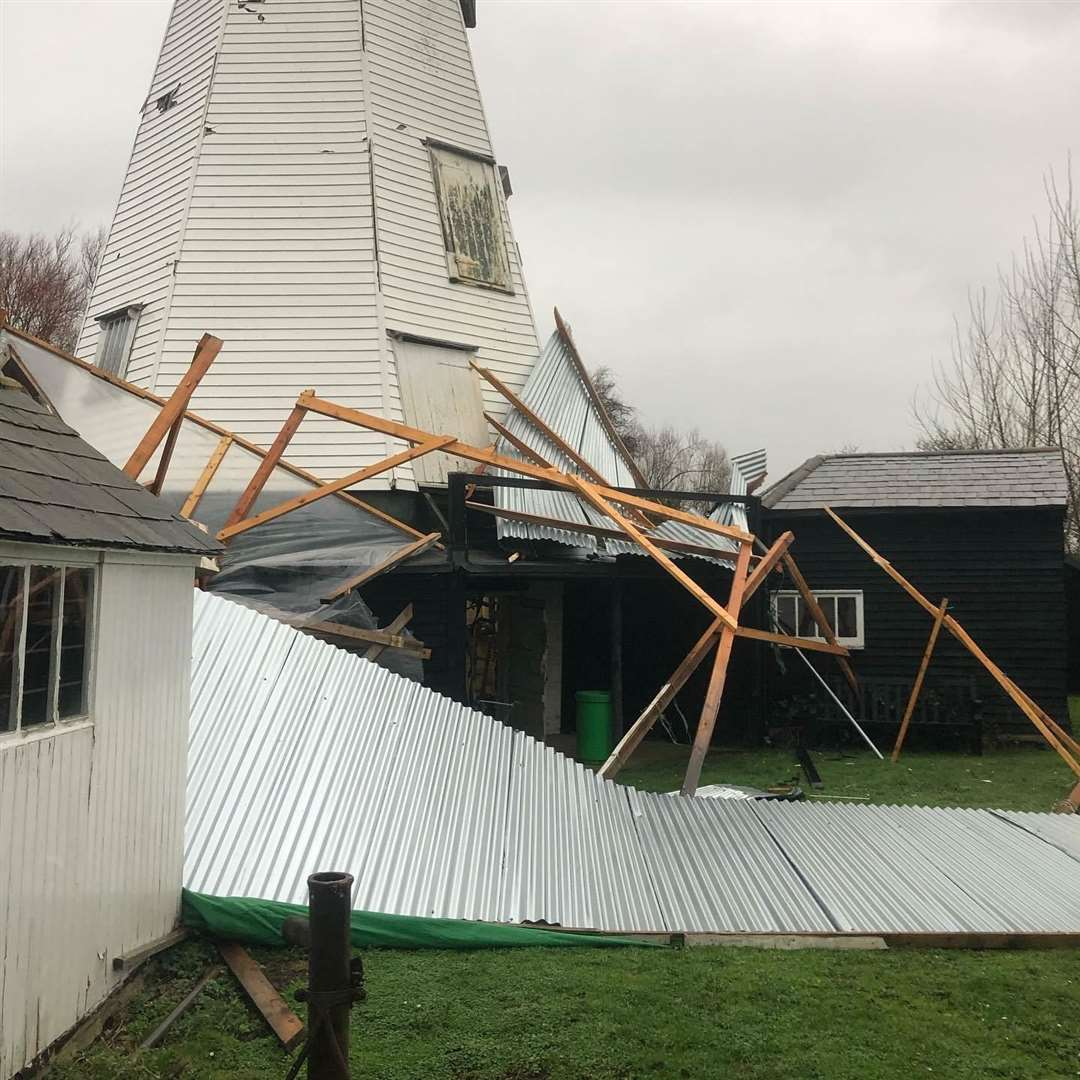 The damage at White Mill Rural Heritage Centre has undone hours of work by volunteers Picture: Kate Coles