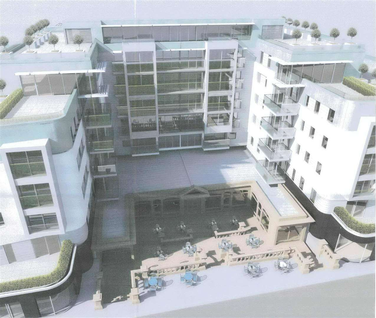 An artist's impression of the redevelopment around the Leas Pavilion: Courtesy Churchgate