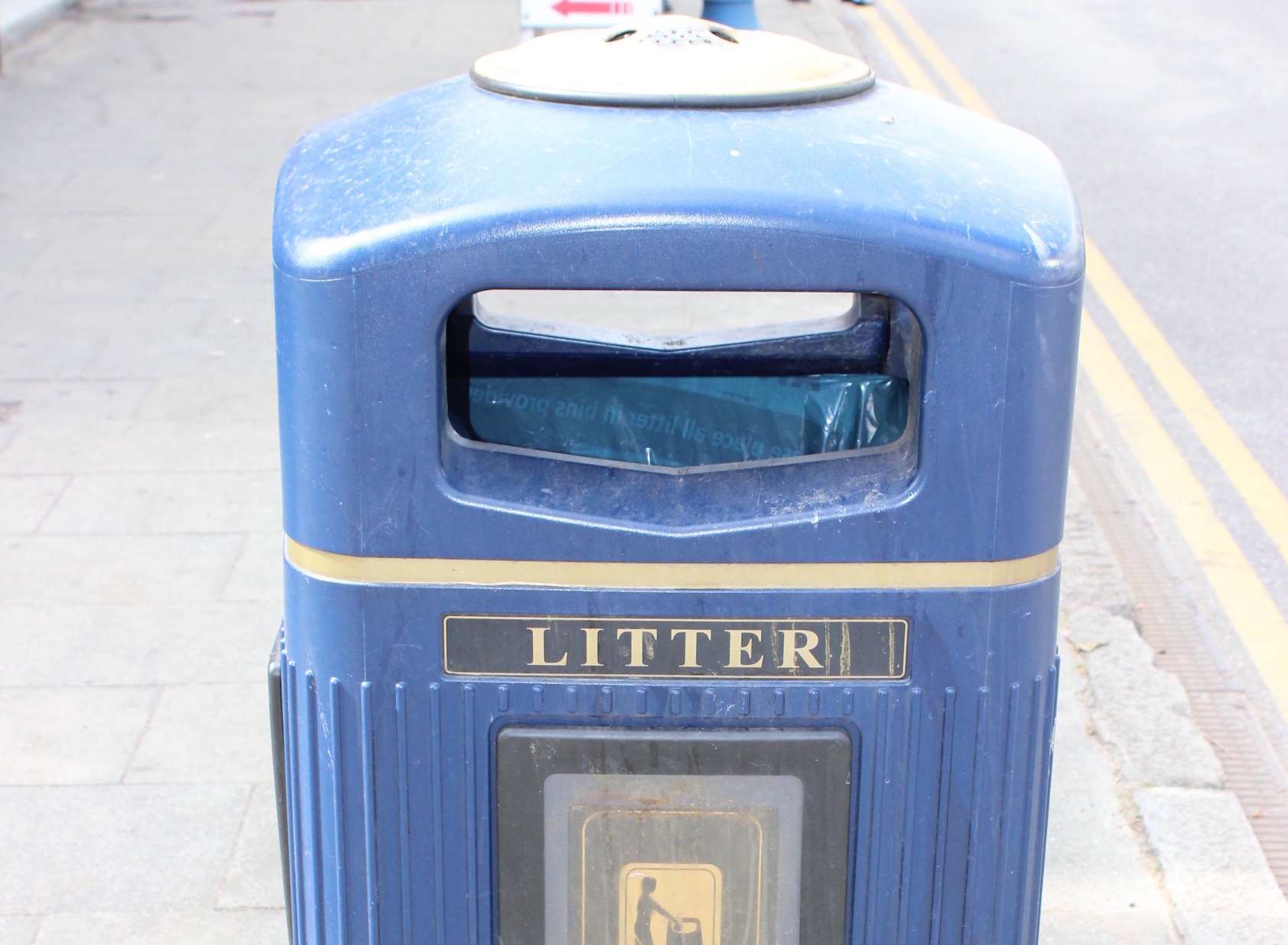 Old bin: Existing blue bins of Sheerness