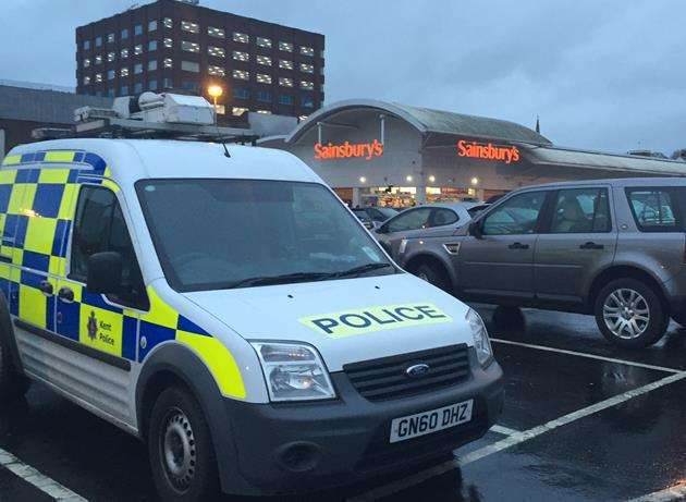 A body was found near Sainsbury's at Romney Place in Maidstone