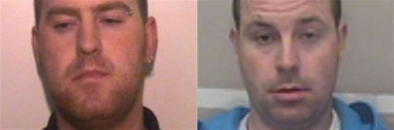 Police are looking for Ronan Hughes, left, and his brother Christoper Hughes, right. Picture: Essex Police (20620247)