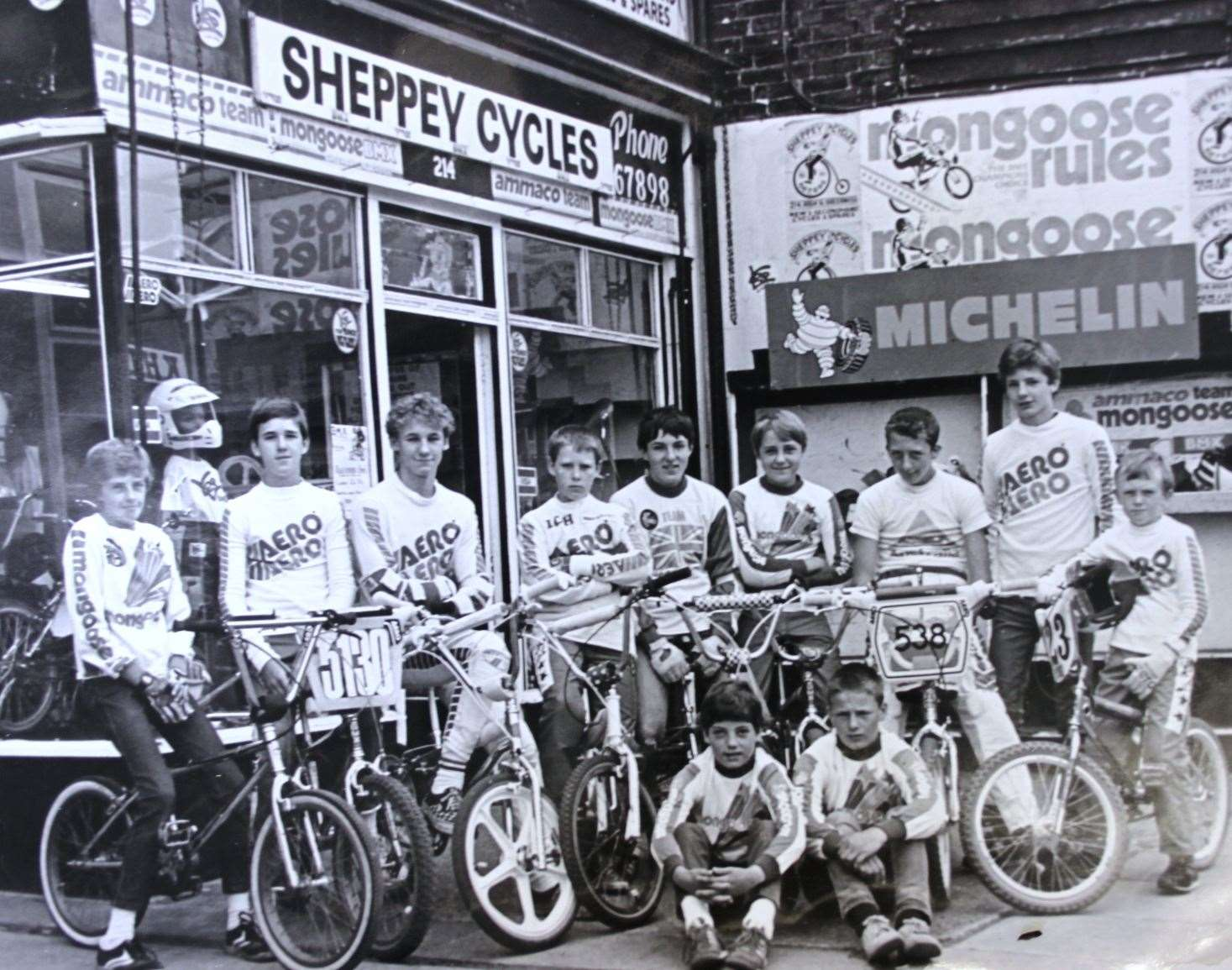 Sheppey Cycles' heyday in the 1980s when it had its own BMX team