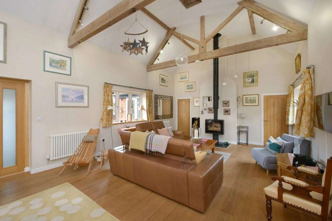A look inside the converted barn. Picture: Zoopla / Winkworth - Canterbury