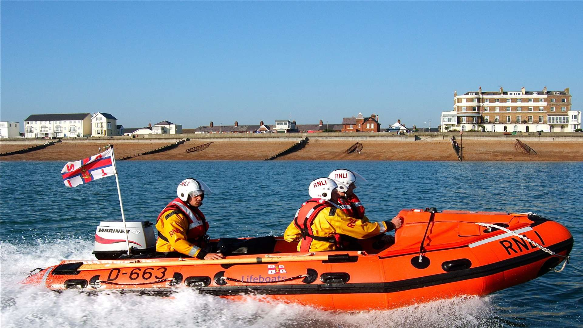 The RNLI was called to retrieve Mr Weinhardt's body from the water