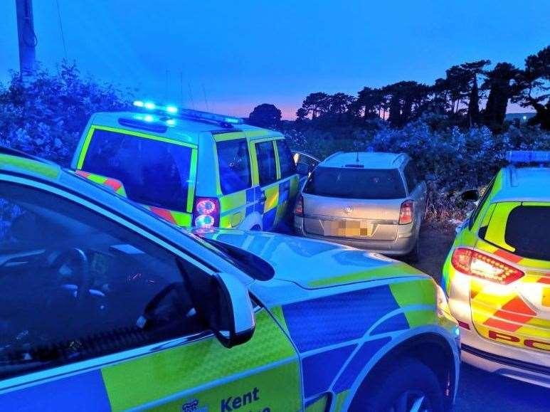 Police stopped the car in a farmer's field in Aylesford in June
