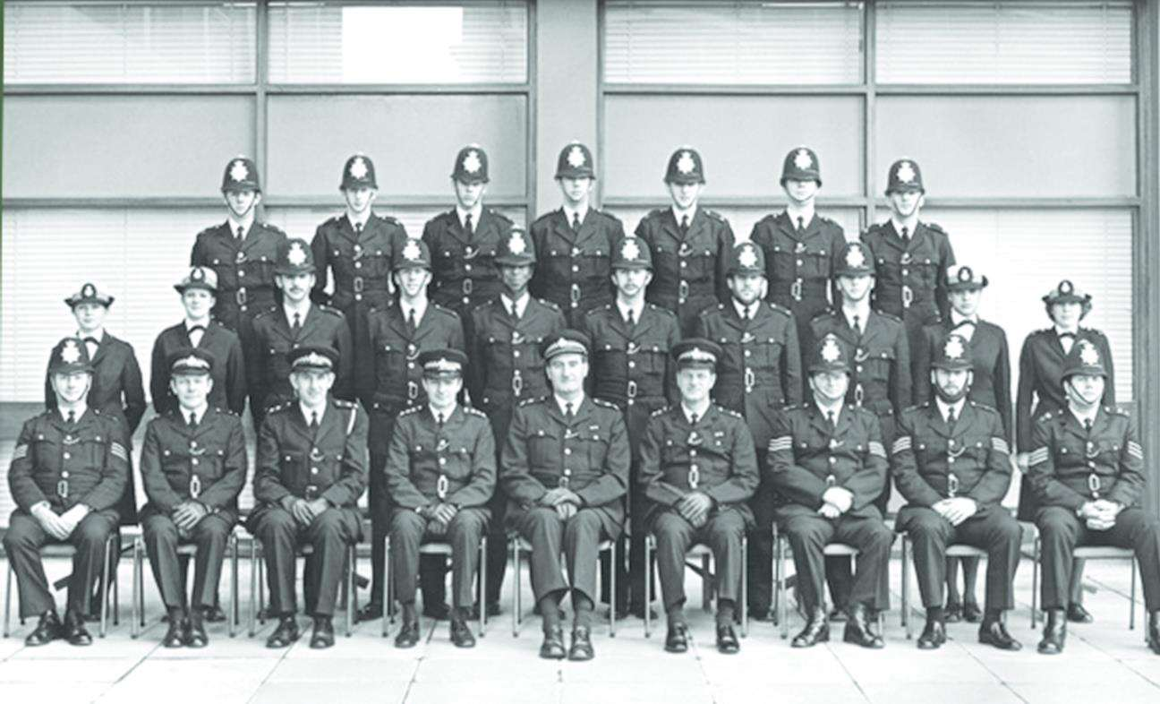 Michael Fuller was the only black face in his Hendon Police Training School graduation class of 1978