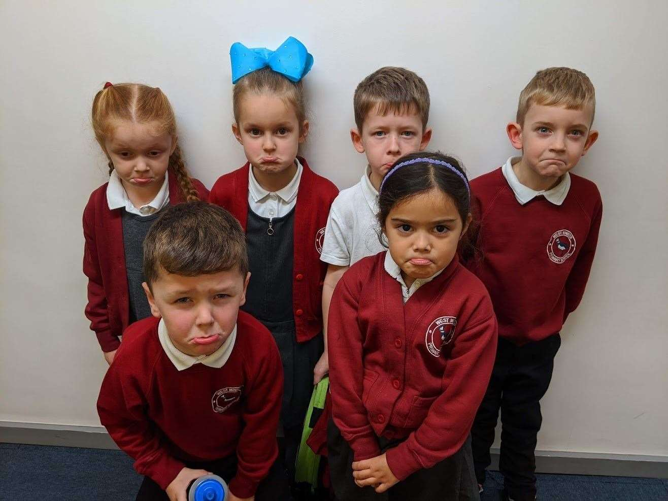 No milk: pupils from Violet Class in Year 1 at West Minster School, Sheerness