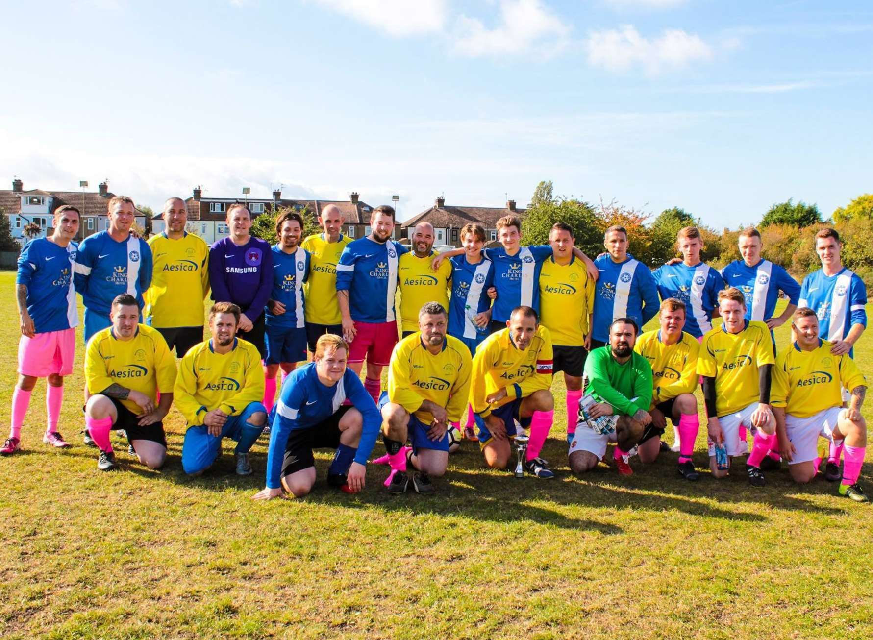 A charity football match was held at Sheerness East Working Men's Club, Halfway, in memory of Imogen Harty-Mulheron. Picture: Jemma Arbin