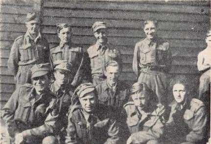 Soldiers from the Royal West Kents in a German POW camp in 1942
