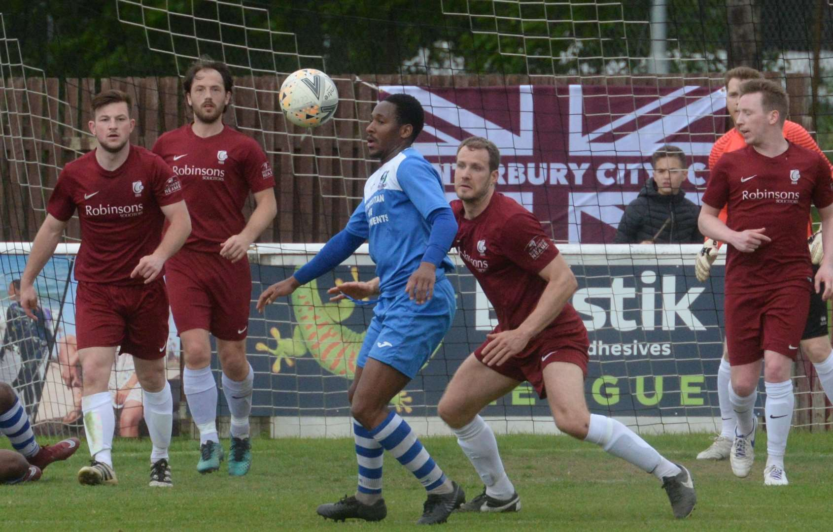 Canterbury City take on Cray Valley at Salters Lane, Faversham on Saturday. Picture: Chris Davey. (9257959)