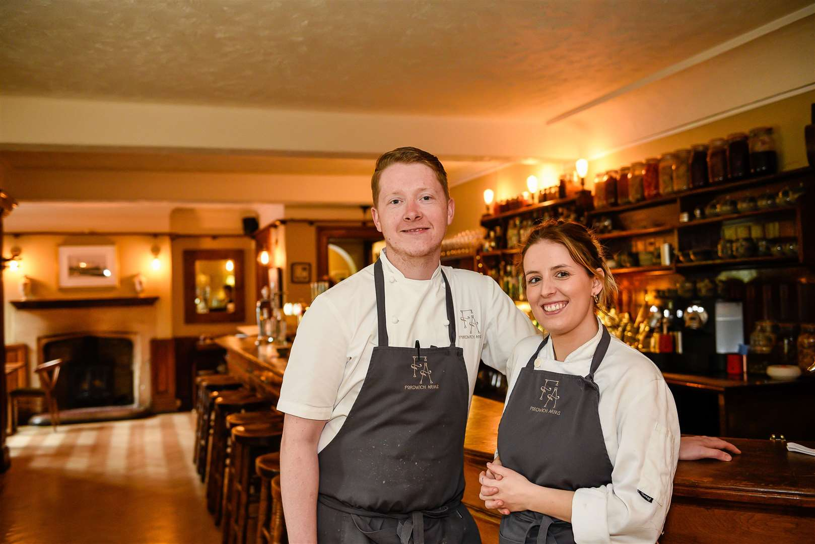 Daniel and Natasha Smith inside the Fordwich Arms Picture: Alan Langley