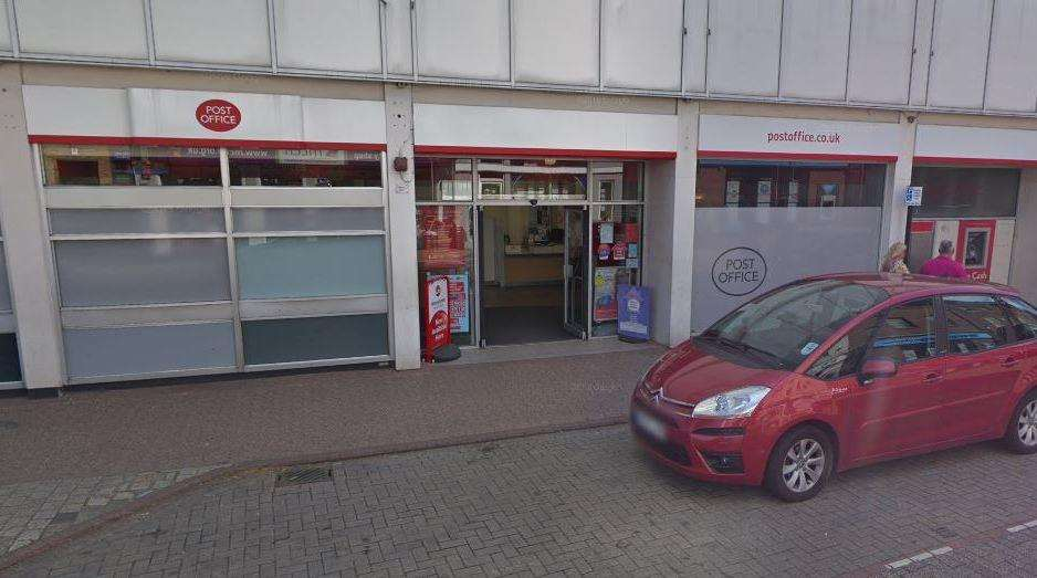 The post office in Hythe Street, Dartford, is set to be moved to WHSmith