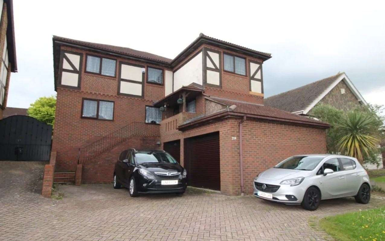 The five-bed detached house in Lords Wood Lane is described as 'perfect for commuters'. Picture: Zoopla / Your Move