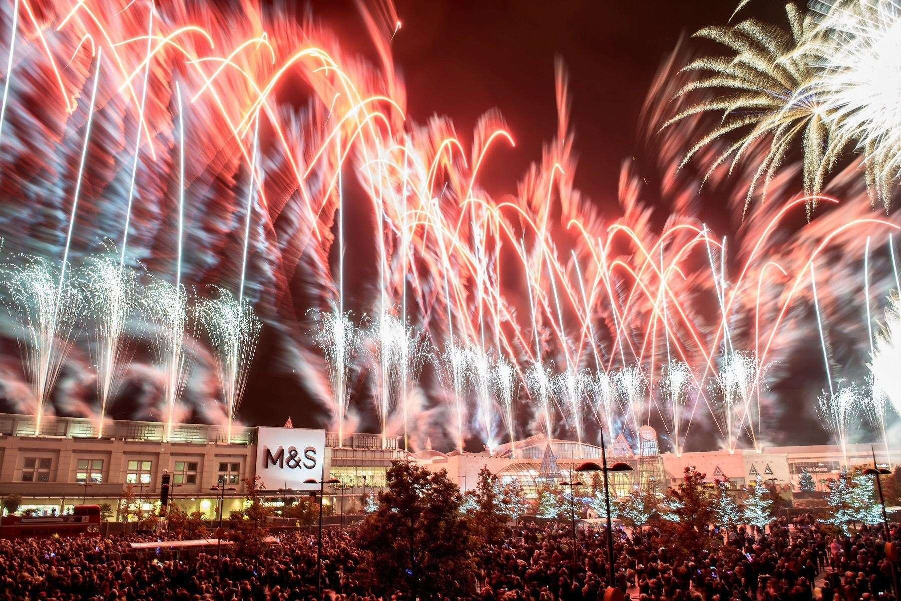 At Christmas Bluewater celebrates with a lights switch-on and a spectacular fireworks display