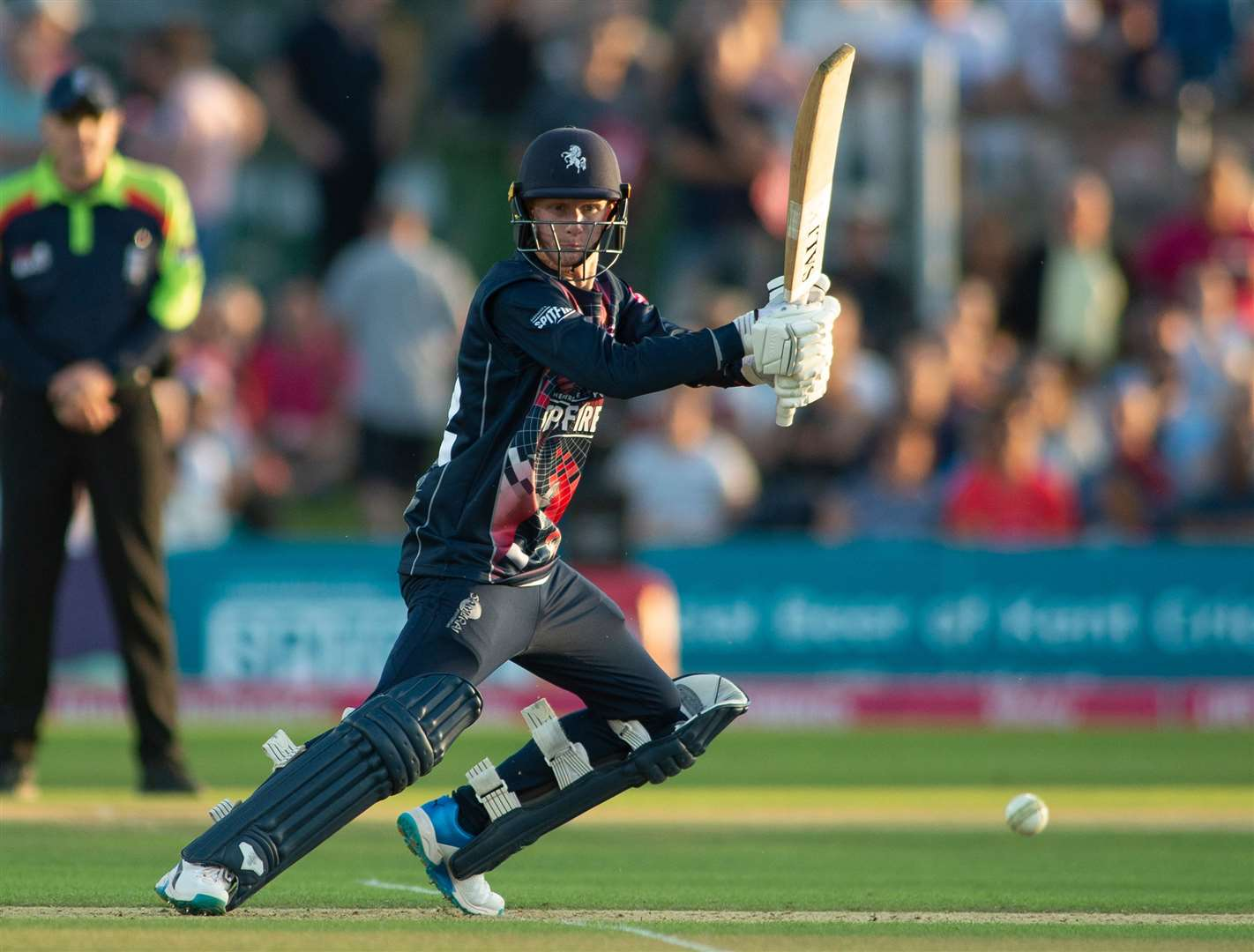 Jordan Cox looks for runs as Kent take on Somerset in the T20 Blast. Picture: Ady Kerry