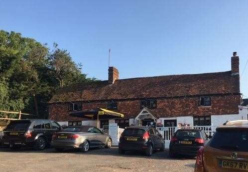 Off the beaten track - the pub is between West Malling and Sevenoaks in the tiny hamlet of Basted, near Crouch