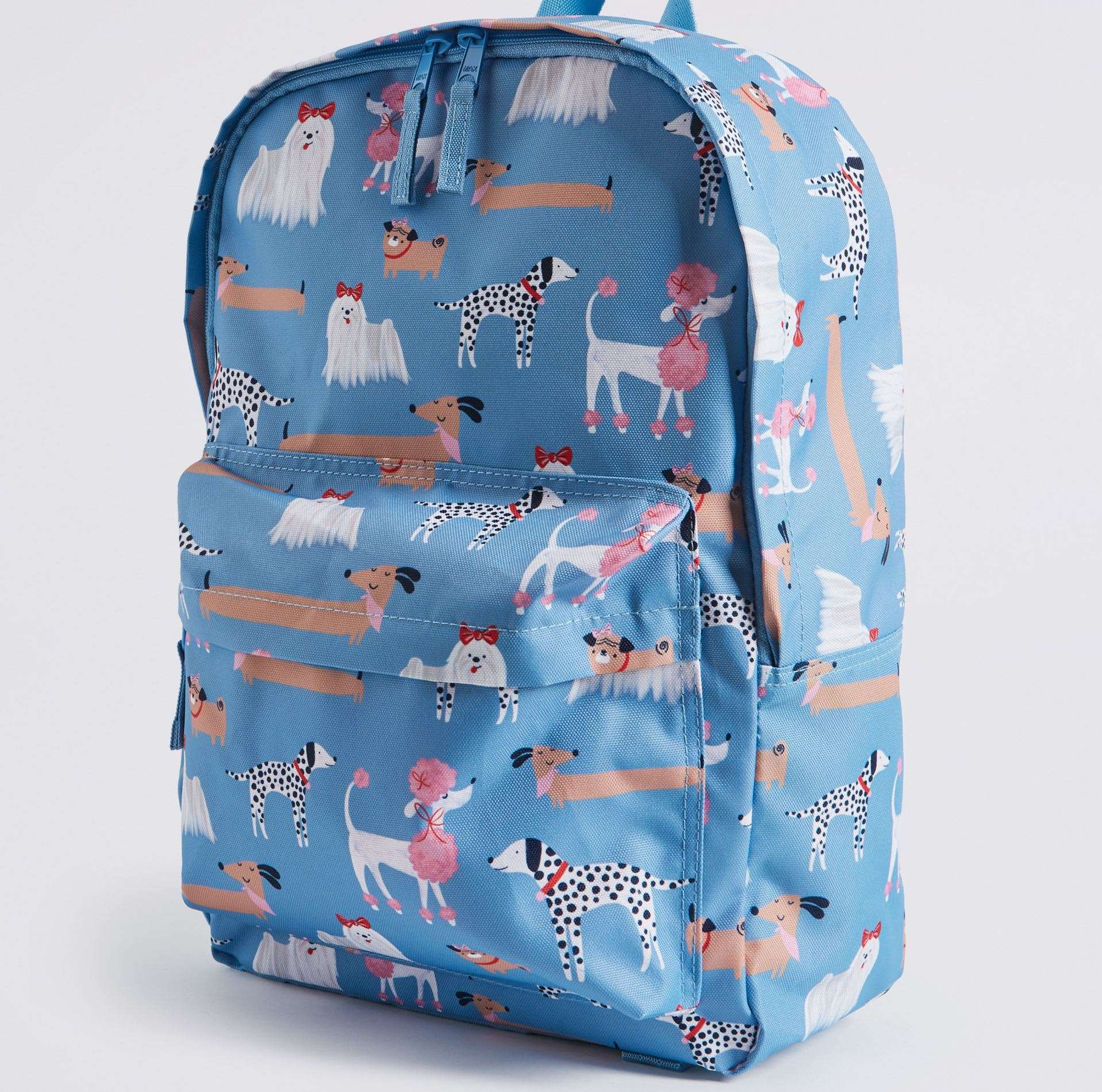 Dog patterned water repellent back pack, £20 from M&S