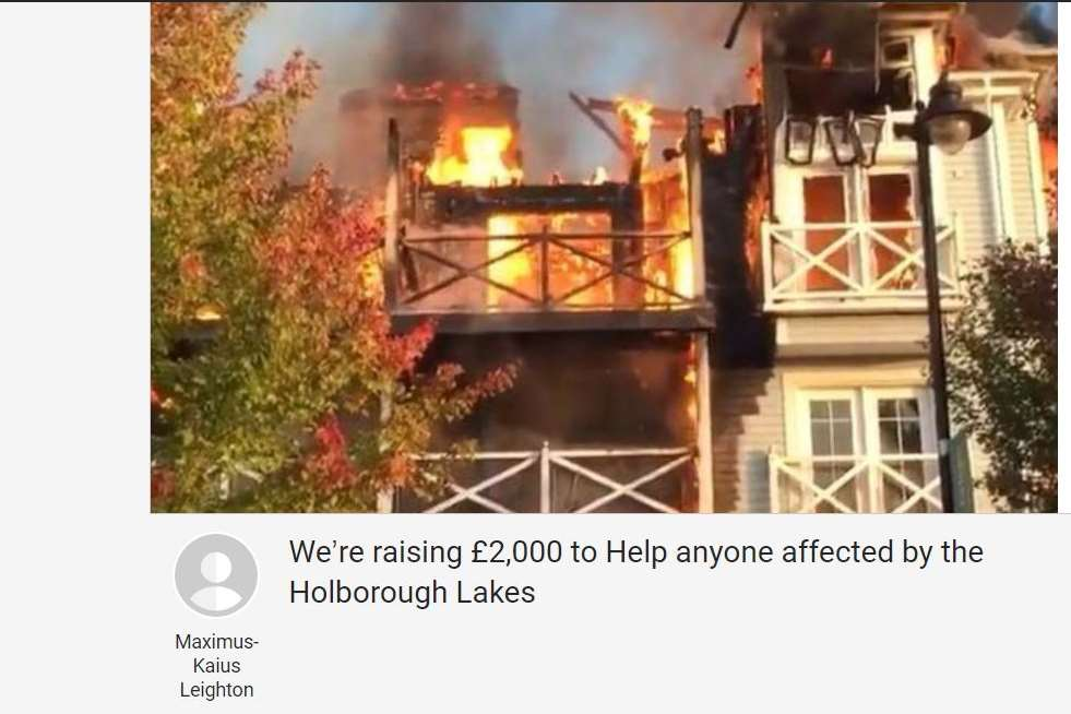 A JustGiving page has been set up for those whose homes and possessions have been destroyed.