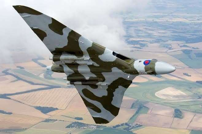 The Vulcan was Britain's delta-winged nuclear bomber of the period