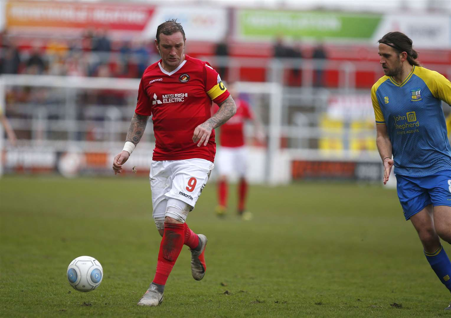 Ebbsfleet Forward Danny Kedwell Picture: Andy Jones