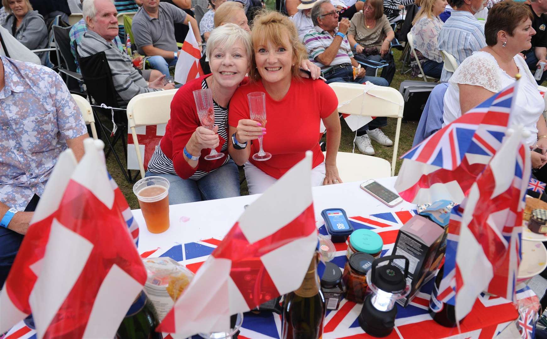 Last year's Castle Concerts fun for Lynne Howard and Karon Vander-Heiden. Picture: Steve Crispe