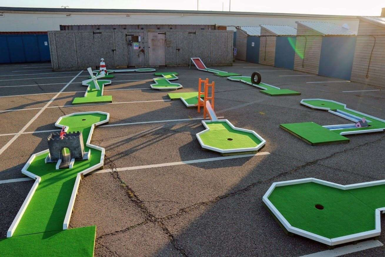 A new mini golf course has opened along the Arm. Picture: Charlie's Mini Golf