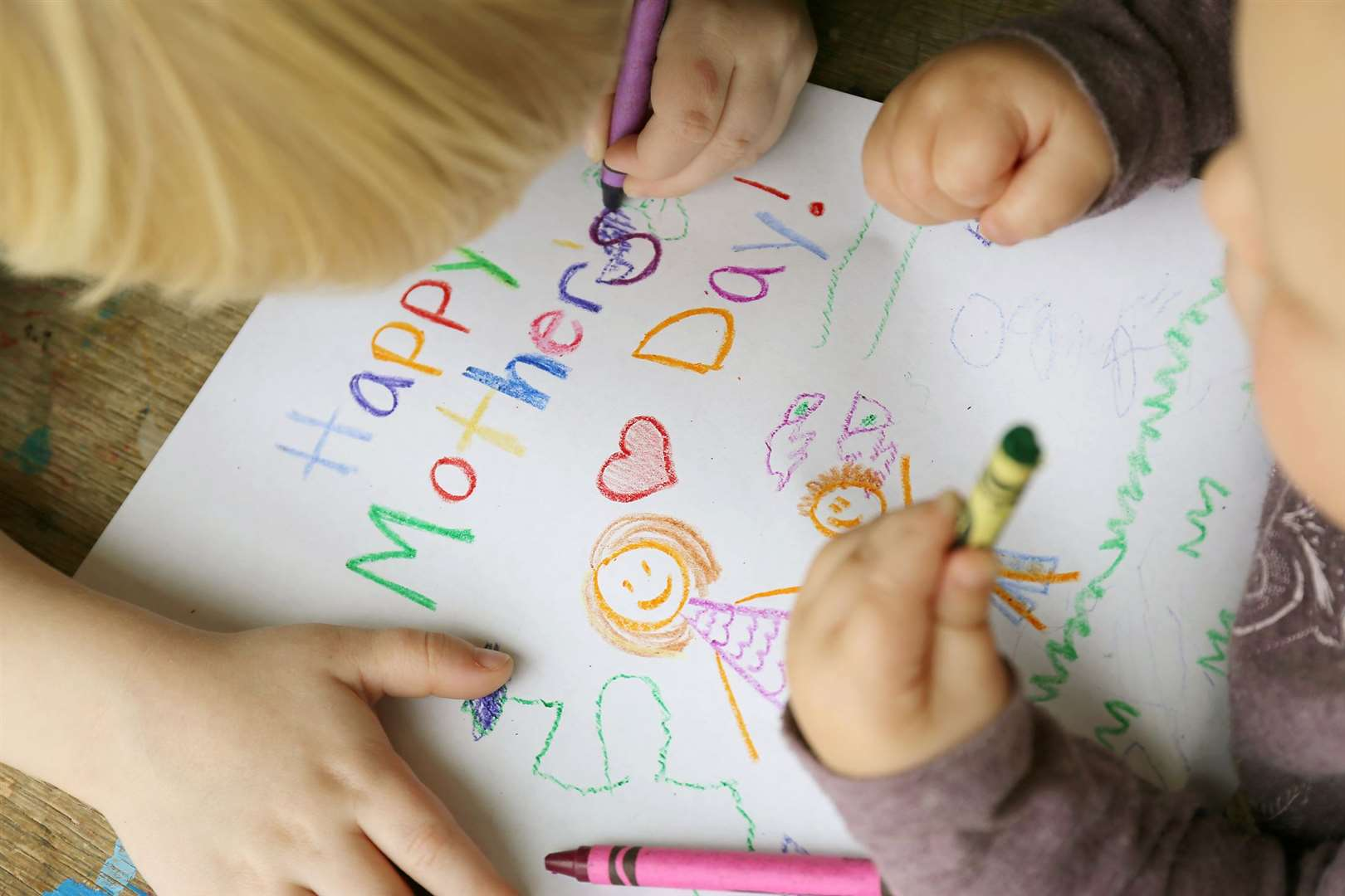 Did your child draw a Mother's Day picture?