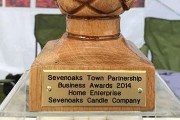 The Sevenoaks Candle Company won an award at the Sevenoaks Business Awards