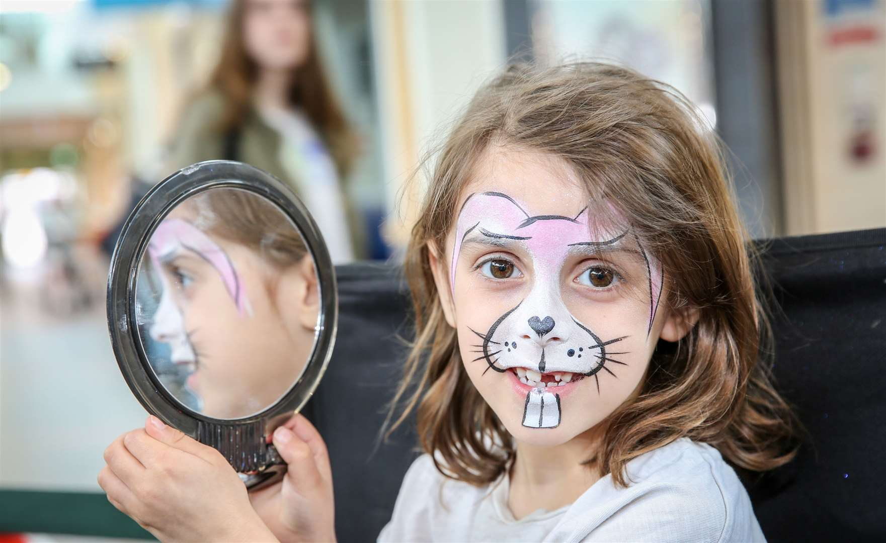Hempstead Valley Shopping Centre has Easter fun, including face painting as Alice Johnson found out Picture: Matthew Walker