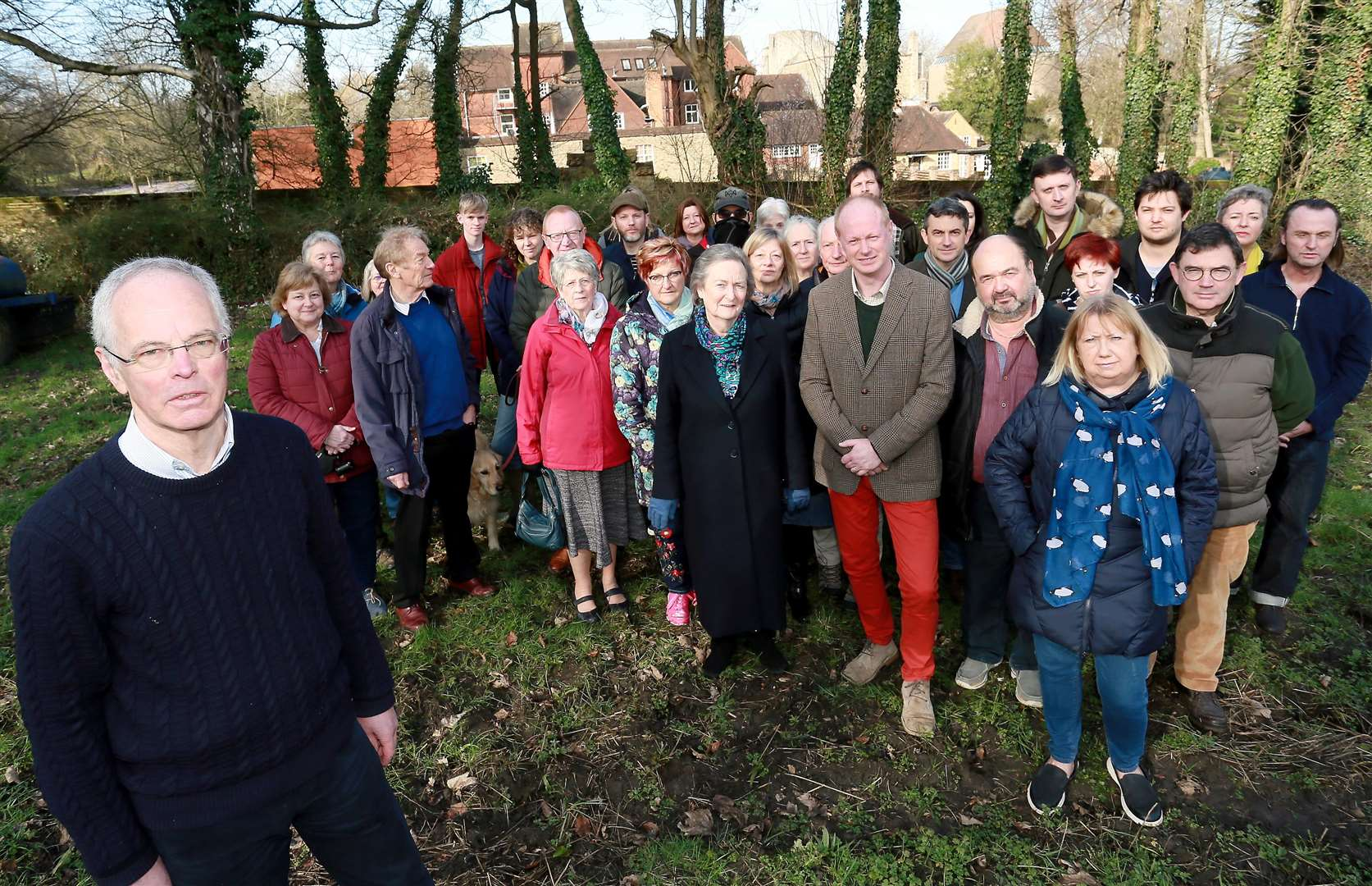 Alan Gibbins (left) and just some of the residents who object to the scheme. Picture: Phil Lee (7226794)