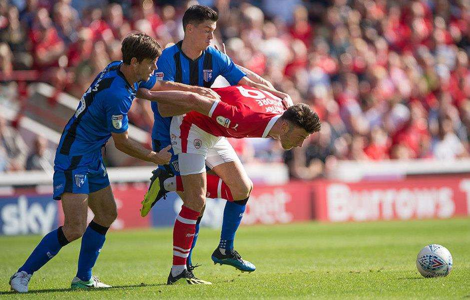 Action from Gills' game at Barnsley Picture: Ady Kerry (3915417)