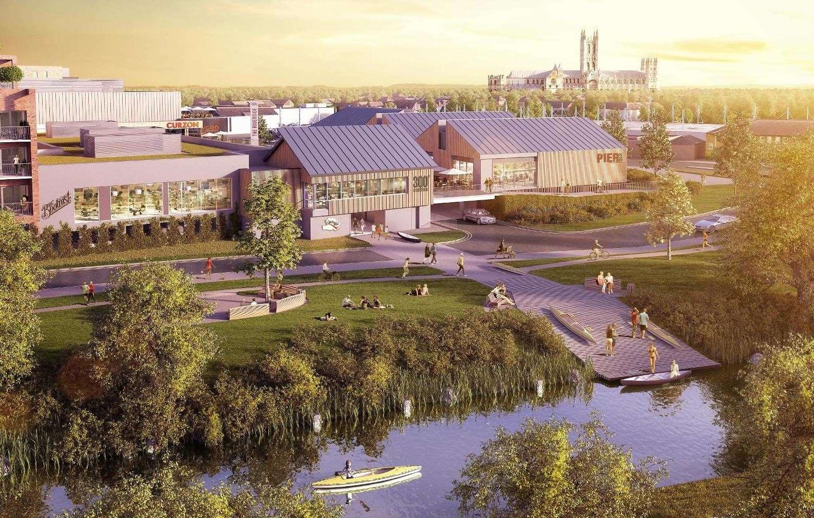 Un nouveau CGI à la rivière, où il est né, montrant un canoë