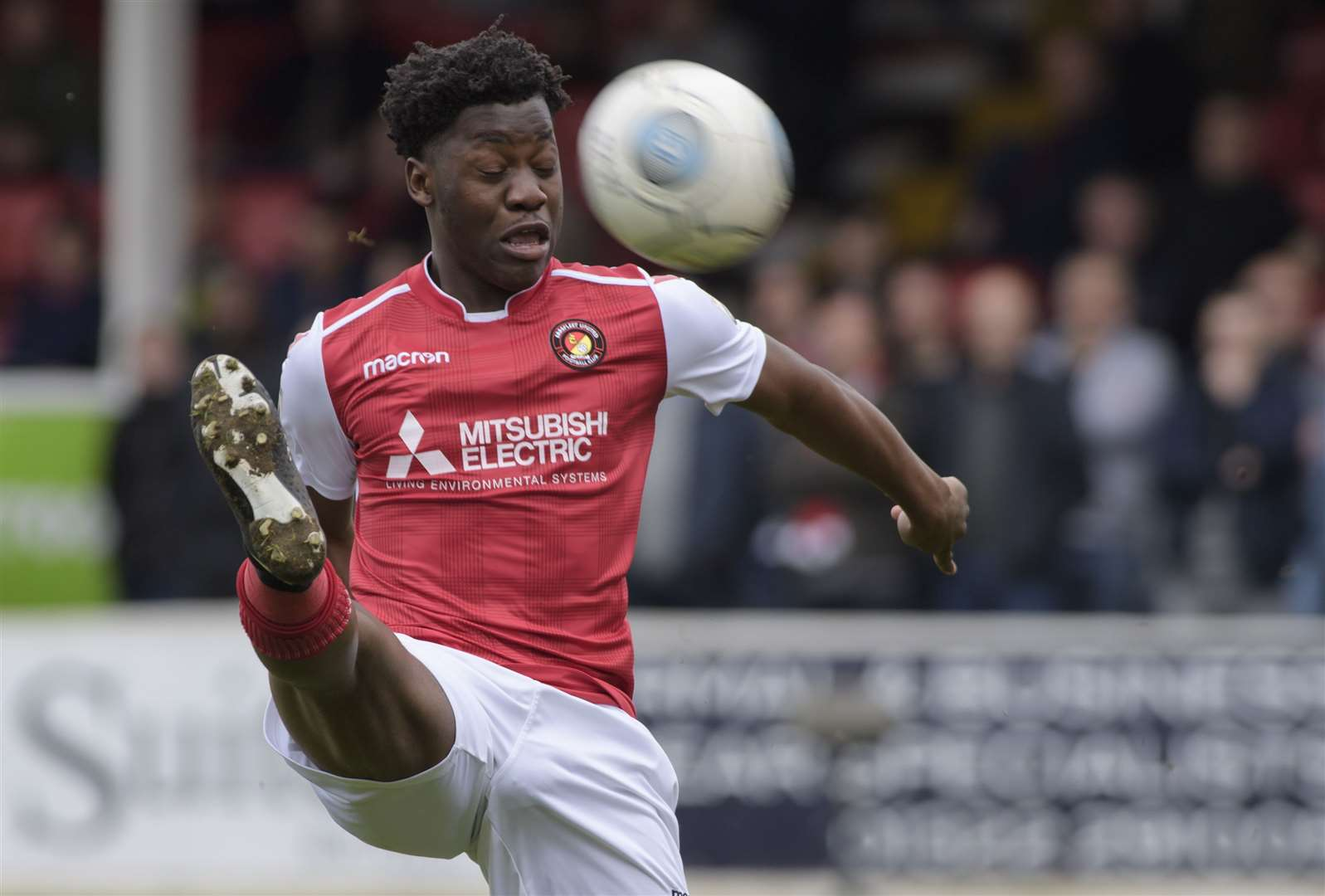 Norman Wabo in action while on loan at Ebbsfleet. Picture: Andy Payton