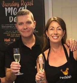 Neil and Nadine Maynard, owners of Peckish