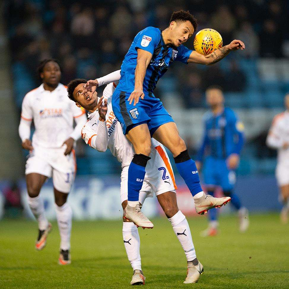 Action between Gillingham and Luton Town Picture: Ady Kerry (5593737)